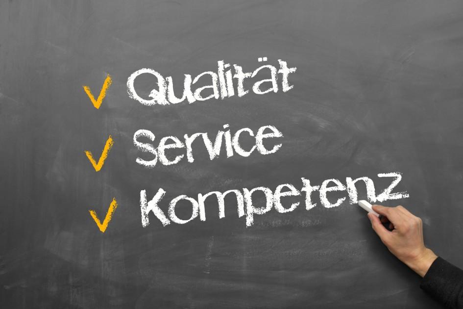 qualität, service, kompetenz